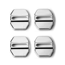 1Pc Car Accessories Decorative Stainless Steel Door Lock Protective Auto Cover