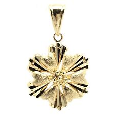 18k solid yellow gold flower pendant 3.5 grams