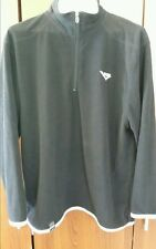 Pony Black & White Trim Polyester Fleece WindBreaker Zip Mock-Neck L/S M