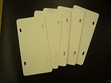 """12"""" x 6"""" .055"""" POLYETHYLENE LICENSE PLATE BLANKS 5 PACK back sides are no good"""