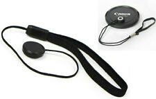 Lens Cap Keeper Cord w/Elastic Leash For Canon Nikon  SLR Camera Len