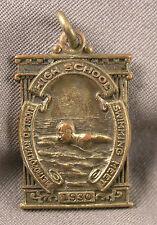 Art Deco Metropolitan Detroit Michigan Swimming Meet Swim 200 Relay Medal 1930
