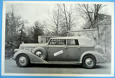 """12 By 18"""" Black & White Picture 1937 Pierce Arrow All Weather Phaeton"""