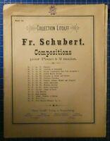 Collection Litolff Band 45 Fr.Schubert Compositions pour Piano à 2 mains H8166