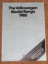 1980 VW RANGE Sales Brochure - Golf GTi & Conv Polo Derby Passat Scirocco Storm