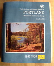 1965-1966 Portland Oregon Pacific Northwest Bell Phone Directory