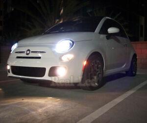 2x Bulbs H7 Cree LED 90W Headlight Low Beam 6000K White Fiat 500 500C 2007-2017