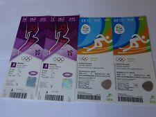 London 2012 / Rio 2016 Olympic Games MO FARAH 4 x ORIGINAL GOLD MEDAL TICKETS !