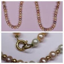 perlas de cultivo Collar Cadena 585er ORO CIERRE COLLAR PERLAS L 45cm