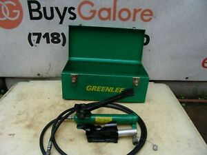 Greenlee 800 Cable Bender with Foot Pump 250-1000 KCMIL Capacity Works Great #1