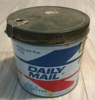 Vintage Daily Mail Tobacco Tin With Amazing Lid Rare!
