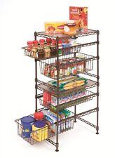 Kitchen Cabinet Organizer Shelf Corner Storage Rack Basket Drawer Pull Out Under