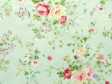 Patchworkstoffe Lecien Rosenstoffe rosa Rosen Rosensträuße  Pastell zart grün BW