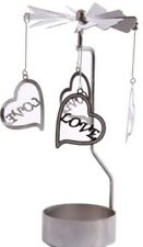 HEART LOVE ROMANTIC~METAL ROTATING SPINNER~CANDLE TEALIGHT~WEDDING~FREE PP UK