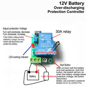 12V 30A Car battery excessive discharge anti-over controller protection board