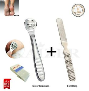 CALLUS REMOVER Hard Dead Skin CORN Cutter Shaver Pedicure FOOT TOOL + 10 BLADES