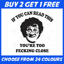 Funny Mrs Browns Boys Agnes Brown ANY COLOUR Bumper Sticker Window Vinyl Decal