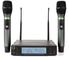 Q-Audio QWM 1960 V2 HH-UHF Dual Channel True Diversity Wireless Mic (863-865MHz)