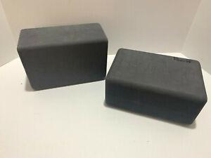 "2 MANDUKA 9""x6""x4"" Foam YOGA Support Comfort Block Prop Pilates ""Practice On"""