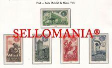1964 FERIA NEW YORK TOROS BULLFIGHTER DANCE PELOTARI  1590 / 94 ** MNH TC23347