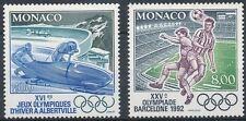 Briefmarken mit Olympische Spiele Thema aus Monaco