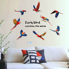 Parrot Birds Bedroom Home Decor Removable Wall Stickers Decals Decoration