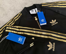 NEW Mens Adidas Originals 24K GOLD Superstar SST FZ Jacket Bottoms Tracksuit SET