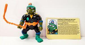 Vintage 1991 Teenage Mutant Ninja Turtles Make My Day Leo Loose Action Figure