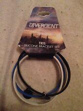 Divergent Tris Silicone Bracelet Set 4 Piece In Package