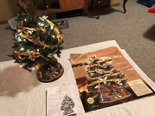 STUNNING RARE JOY TO THE WORLD CHRISTMAS TREE FROM THE DANBURY MINT WITH LIGHTS