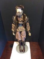 "Handmade Needle Sculpted Doll By Akira Blount ""Male Peasant"" Niada Artist 25"""