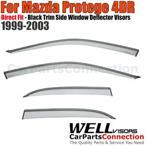 WellVisors Side Window Deflectors Mazda Protege Sedan 1999-2003 Guard Deflectors