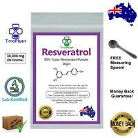Trans Resveratrol Powder 99% Certified Purity Anti Aging NAD+ NMN Booster