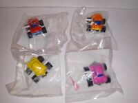 McDonald's Set Of 4 Mighty Mini 4x4's Wind Up Cars Happy Meal Toy 1990 NEW