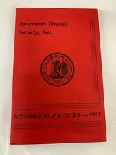 Bulletin: 1977 American Orchid Society - Vintage Membership Roster