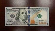 Series 2009 US One Hundred Dollar Star Note Bill $100 San Francisco LL17846961*
