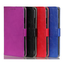 For Nokia 3.2 2.2 Google Pixel 3 4 XL Crazy Horse Leather Card Wallet Case Cover