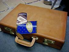 BOYT Vtg  Lawyer Hard Case Tan Belting Leather Briefcase