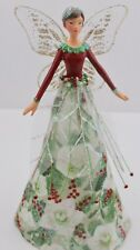 GISELA GRAHAM RESIN FABRIC CHRISTMAS ROSE FAIRY ANGEL TREE TOP SMALL