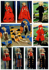 KNITTING PATTERN TO MAKE 24 ITEMS VINTAGE SINDY BARBIE DOLL CLOTHES Double Knit