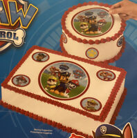 "Nickelodeon Paw Patrol Edible 8"" Cake Topper Birthday Decorations Sheet Circle"