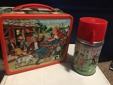 1963 Vintage beverly Hillbillies Metal Lunch Box With Thermos