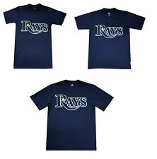 Majestic Tampa Bay Rays T-Shirt MLB Short Sleeve Mens Graphic Button Tee NEW
