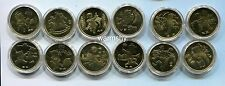 China 2003-2014 Traditional Lunar Year Zodiac Commemorative Coin  UNC 12 PCS