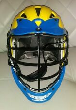 CASCADE CPX ADJUSTABLE LACROSSE HELMET YELLOW BLUE ADULT SIZE GREAT COLOR L@@K A
