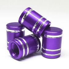 4pcs Purple Smooth round Tire Valve Cap Rubber Ring Seal Air Seal Wheel Rim Dust