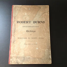 1885 Robert Burns Etchings Book Scott Proof Before Lettering Grange Edinburgh