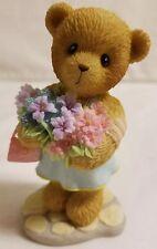 Cherished Teddies Bear Figurine Robyn 2006 Charter Symbol Of Membearship Flowers