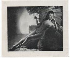 Large 1950s Pin Up Advertising Card of Miss Carole Jayne El Morocco Night Club