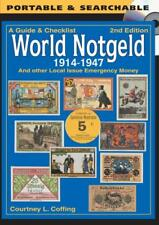 DIGITAL BOOK GUIDE & CHECKLIST WORLD NOTGELD 1914-1947